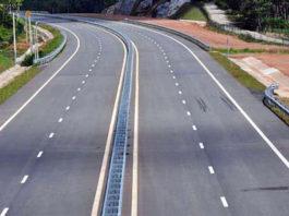 four lane road