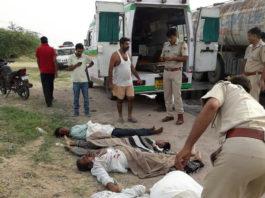 टैंकर-बोलेरो भिडंत में पांच की मौत